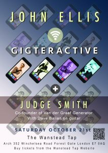 John Ellis: Gigteractive at The Wanstead Tap
